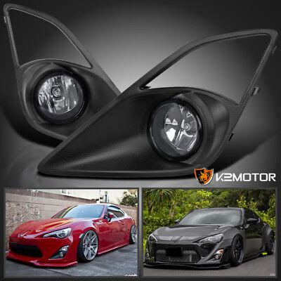 For 12-16 Scion FR-S Toyota 86 Clear Bumper Driving Fog Lights+Bulbs+Switch