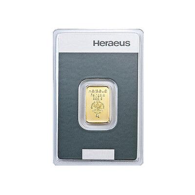 5 Gramm Goldbarren Heraeus Gold 999,9 Feingold Barren - 15 Euro Rabatt ab 3 St.
