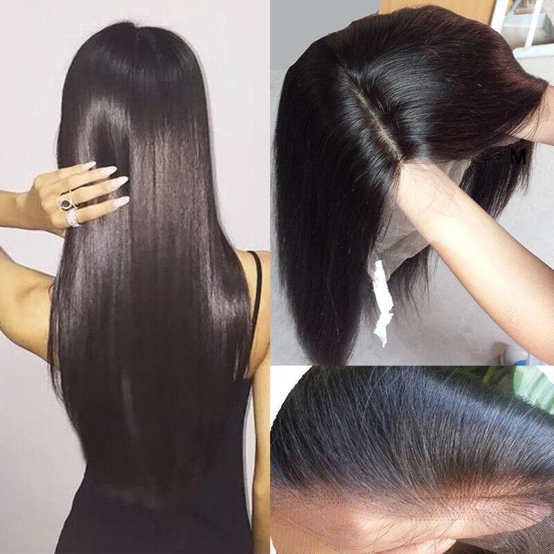 Glueless Full Lace Human Hair Wig 100 Echthaar Volle Spitze Perücken Gerade wgb