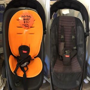 "Phil and Teds ""smart"" Umbrella Stroller in orange and black"