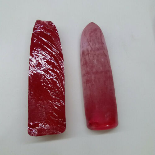100g per bag Rough raw material red corundum synthetic ruby stone