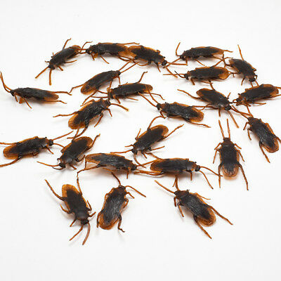 12Pcs Brown Cockroach Trick Toy Party Halloween Haunted House Prop Decor - Halloween Tricks