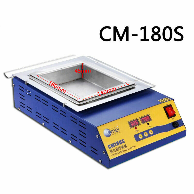 CM180S Lead-Free Solder Soldering Pot 1200W 110V Tin Compact Heating Element US