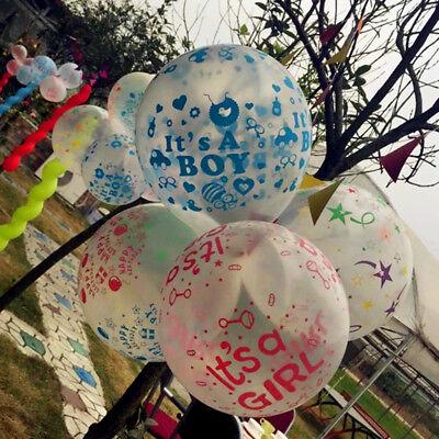 30.5cm Its A Boy Mädchen Rosa Blau Transparent Luftballons Baby Dusche Neu Baby ()