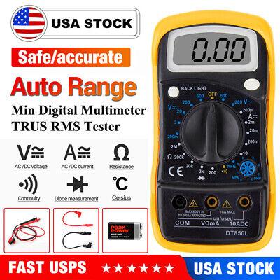Upgrade Digital Voltmeter Ammeter Ohmmeter Multimeter Volt Ac Dc Tester Meter
