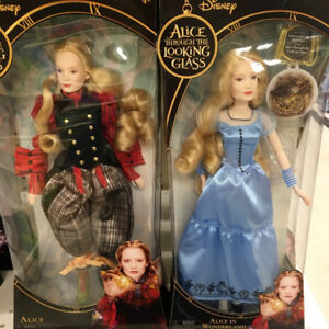 Wanted tim Burton Alice through the looking Glass dolls
