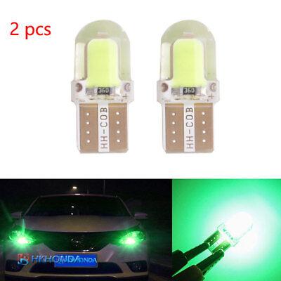 2pc T10 168 194 W5W COB Silica Gel Car LED Bulbs Lamp License Plate Light Green 86 Lamp Side Park Car