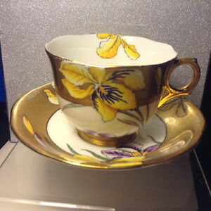 Vintage British Melba Art Deco Cup and Saucer