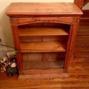Primitive Early Maple General Store Display Cabinet Cupboard