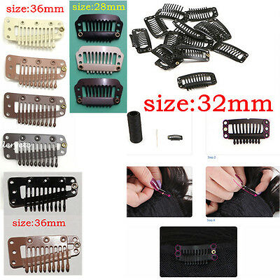 Wholesale Hair Supplies (Wholesale 28/32/36mm Quality Hair Extensions Wig Clips for Toupees Hair)
