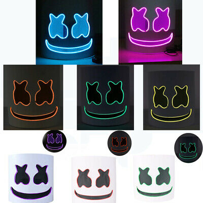 Marshmello Helmet Mask Music Festival For Kids Cosplay Costume Dj Party Replica
