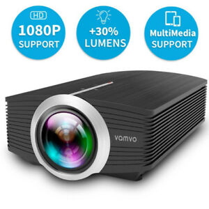 Portable LED Projector 1080P 1200 Lumens Supports Multi-Screen