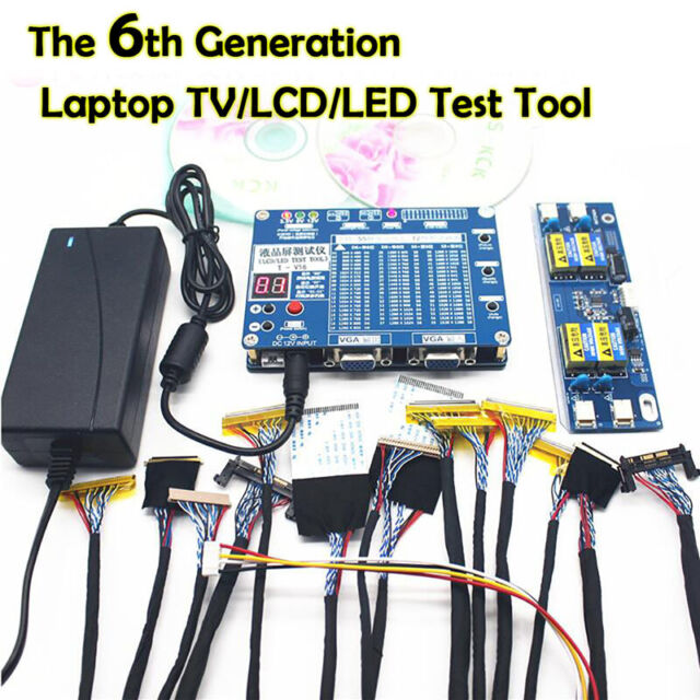 The 6th Generation Laptop TV/LCD/LED Test Tool LCD Panel Tester  w/ 55 Programs