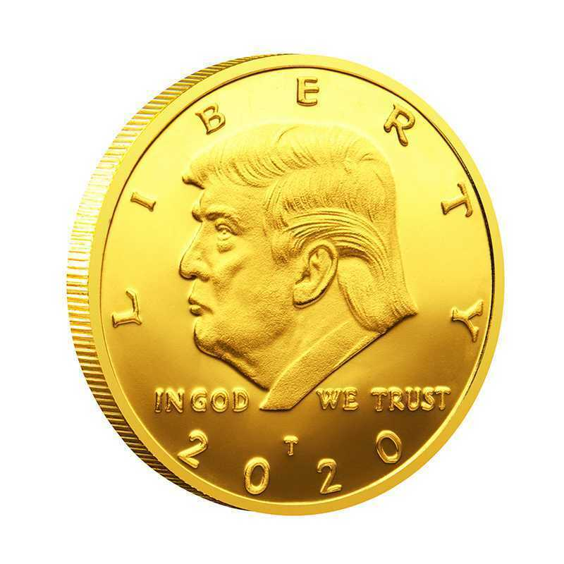 2020 President Donald Trump Liberty Gold Plated EAGLE Commemorative Coin
