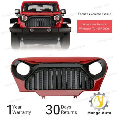 97 - 06 TJ JEEP WRANGLER GLADIATOR VADER Angry Bird Grill Gloss Red