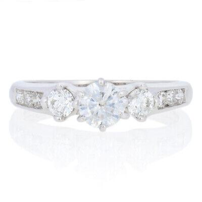 81ctw Round Brilliant Diamond Engagement Ring - 14k White Gold Size 5 3/4
