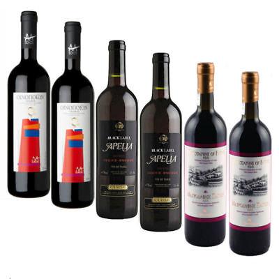 Griechischer Rotwein Set 6x 750ml Markenware trocken, halbsüß und süß