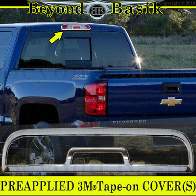 2014-2018 CHEVY Silverado GMC Sierra 1500 Triple Chrome Third Brake Light Cover Chrome 1500 Triple Handle