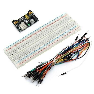 Mb-102 830 Point Solderless Breadboard Power Supply Module 65 Jumper Cables Set