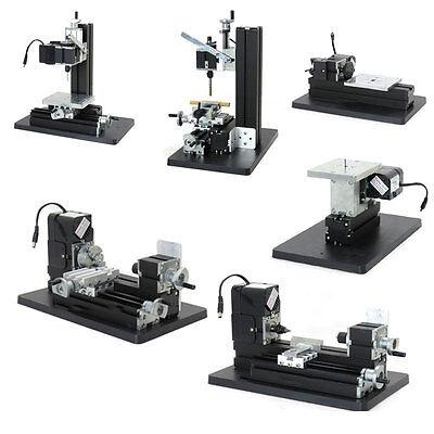 6 In1 Mini Metal Lathe Diy Wood Marking Machine Drilling Milling Multifunction
