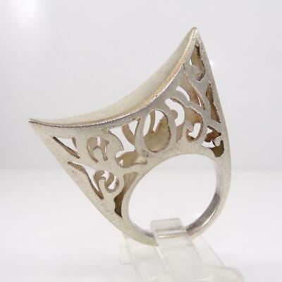 Diva Vtg Sterling Silver LARGE Modernist Retro Runway Unique Ring Size 8 LFD4 Diva Sterling Silver Ring