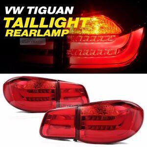 LED Surface Emitting Tail Light Rear Lamp 4Pcs For VOLKSWAGEN 2008 - 2011 TIGUAN