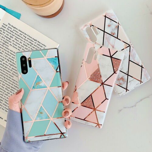 Photo Marble Phone Case Geometric Gel Cover For Samsung Galaxy Note 10 Plus A70 S9 S8