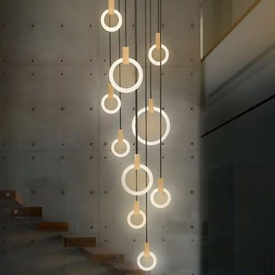 LED Bulbs Chandelier Loft Hanging Lights Modern Home Ceiling Stairs Decorations  - Hanging Ceiling Decorations
