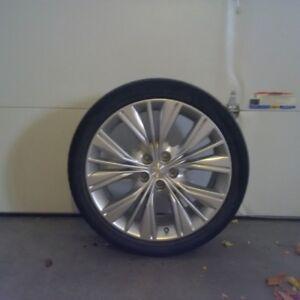 aluminum rims and tires