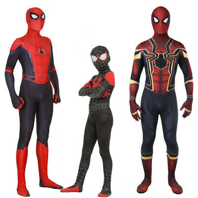 Spiderman Spinne Kostüm Karneval Miles Morales Spider Kostüm Kinder Cos Jumpsuit ()