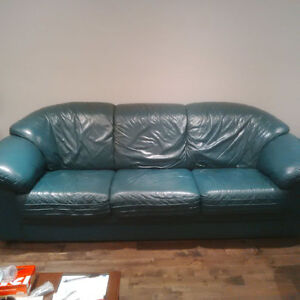 100%Italian Leather Couch and Love Seat