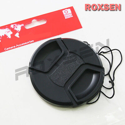 55mm Frontal Bouchon Couvre-objectifs Snap-on Lens Cap pour Canon Nikon Sony 55 Mm Snap