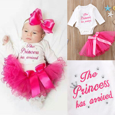 THE PRINCESS HAS ARRIVED Baby Girl Coming Home From Hospital Outfit Tutu