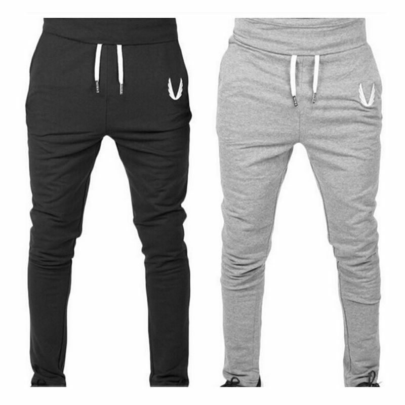 2017 Men Sportswear Pants Casual Elastic cotton Mens Fitness Workout Pants  FF