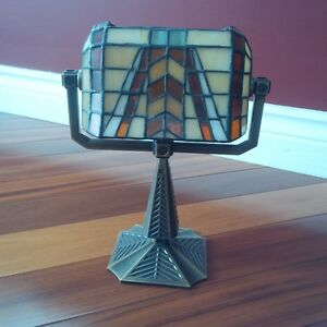 Partylite Tiffany Banker Style Lamp