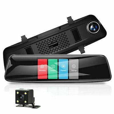 "AZDOME 4.3""Mirror Dash Cam  Touch Screen 1080P Dual Lens DVR Car Rear Camera"