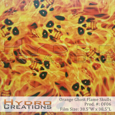Hydrographic Film For Hydro Dipping Water Transfer Film Orange Ghost Flame Skull
