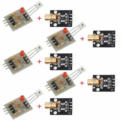 10xkit Laser Receiver Sensor Module And Ky 008 Transmitter For Arduino Avr