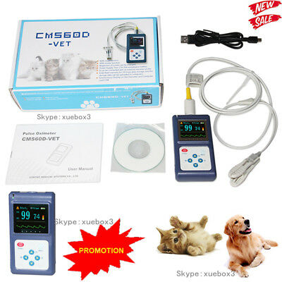 Veterinary Pulse Oximeter Handheld Spo2 Pr Monitor Tongue Probesw Contec Cms60d