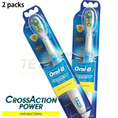 Braun Oral-B B1010 CrossAction Power 2 Packs Anti-Bacterial Electric Toothbrush