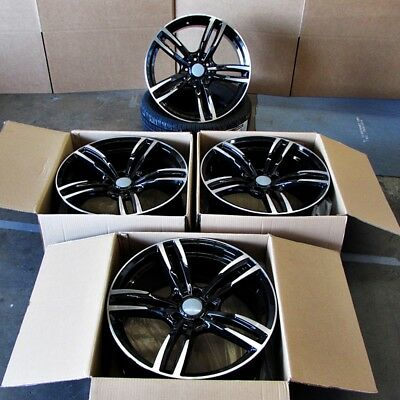 "Fits BMW 5 6 Series M6 Sport Style 437 in Black Machined Rims 18"" Wheels"
