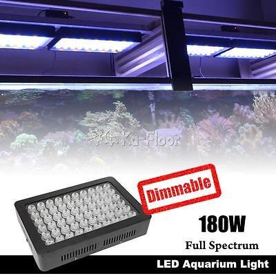 180W Dimmable Full Spectrum LED Aquarium Light Marine Reef Coral SPS/LPS Lamp