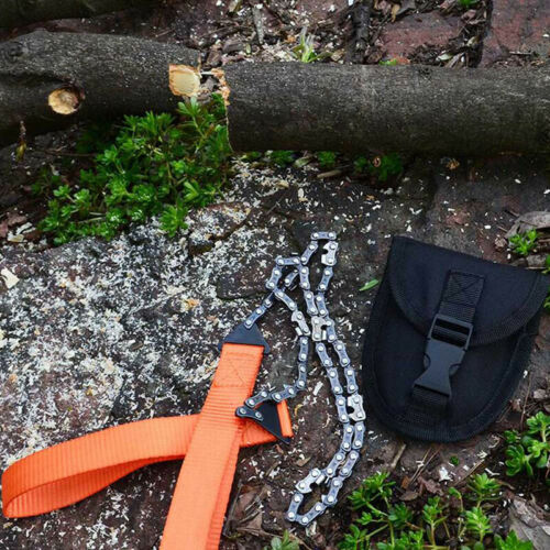 Hand ChainSaw Camping Tool Portable Pocket Gear Chain Saw Cutting Firewood Tool