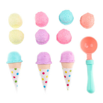 Kids Best Pretend Play Ice Cream Set 17Pcs Food Toys Educational Kitchen