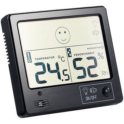 Luftfeuchtigkeitsmesser: Raumklima-Thermometer mit Hygrometer mit Alarmfunktion