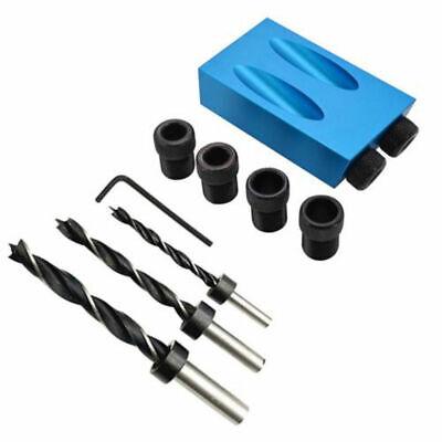 10 Vorrichtung (Bohrschablone Bohrlehre 15° 6/8/10mm Taschenloch Bohrvorrichtung Bohrhilfe Neu)