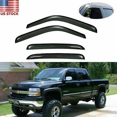 Window Visor Vent Rain Guard Shade Deflector For Chevy Suburban /Silverado 02-05