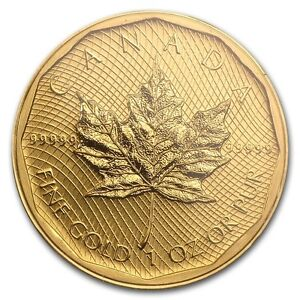 1 oz 2009 Canadian (Five 9s) Maple Leaf $200 Gold Coin 99999