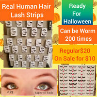 Human Hair Strip Lashes