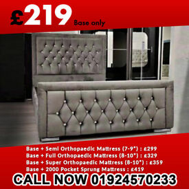 Same Day Delivery Double King Size Heaven Grey Bed Frame